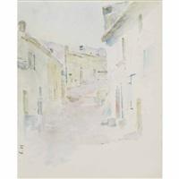 village street, antibes by theodore robinson
