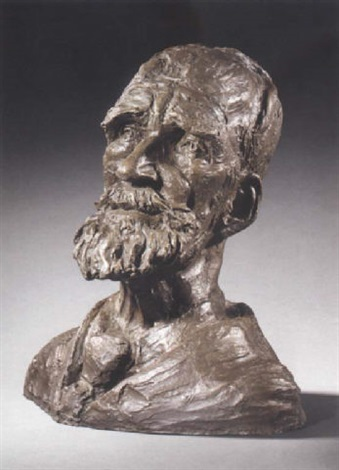 bust of george bernard shaw by claire winston