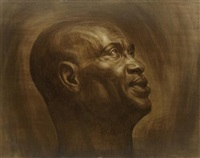 untitled (head of a man) by charles wilbert white