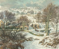 winter near lundie, angus by james mcintosh patrick