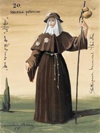 helena pelerine, shakespeare (costume maquette) by mariano andreu