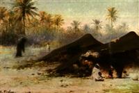 campement by louis emile pinel de grandchamp