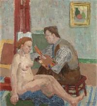 målaren och hans modell by birger ljungqvist