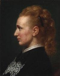 portrait of bolette hartmann, née puggaard (1844-1929) by anton laurids johannes dorph