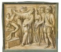 projets de frises retraçant des épisodes de l'histoire romaine (5 works) by luigi ademollo