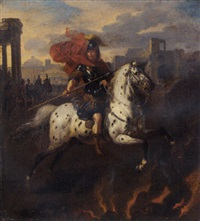 marcus curtius by bertholet i flemal