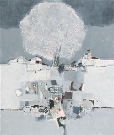 muro e albero fiorito by fernando eandi