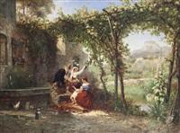 paesaggio con figure by pierre (henri théodore) tetar van elven