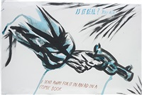 untitled (is it real? you ask...) by raymond pettibon