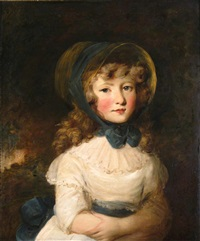 portrait of a girl thought to be miss louisa hanway by rev. matthew william peters
