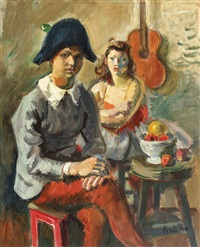 pierrot and colombina by iosif iser