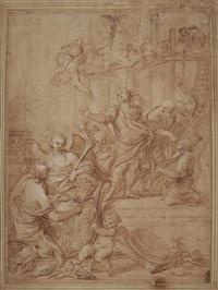 enée reçoit de mercure l'ordre de quitter carthage by ludovico gimignani