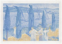 la promenade (from l'album d'estampes originales de la galerie vollard) by henri edmond cross