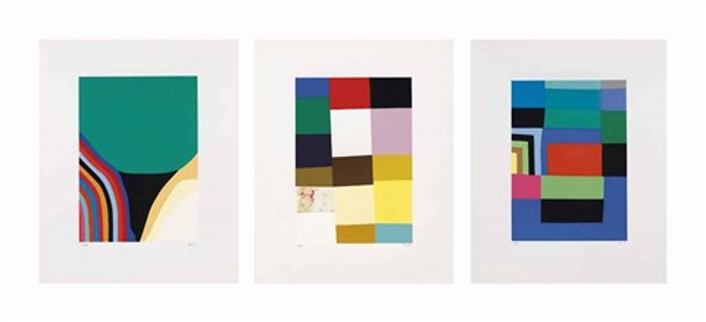 lotto di cinque opere (9 elementi) by alberto burri