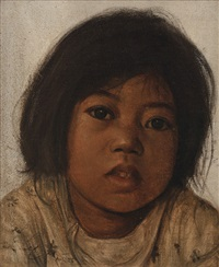 portrait of a girl by dullah