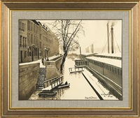 snows near seine by odo (otton) dobrowolski