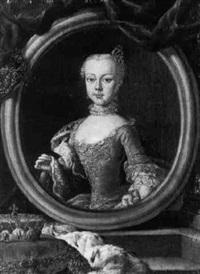 portrait of a noblewoman (anne of habsburg?) by guillaume jean joseph de spinny