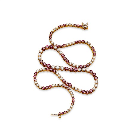 d86be63f99a57 A ruby and diamond set line necklace, Tiffany Co. by Tiffany & Co ...