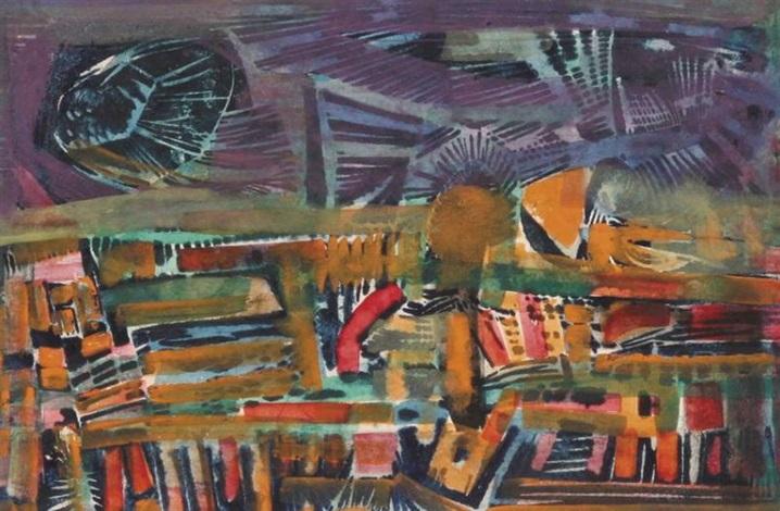 kompozycja abstrakcyjna iv by witold stefan zaczeniuk