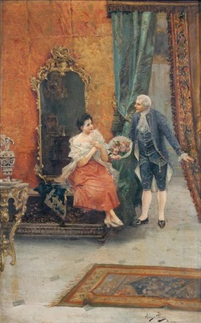 la visite galante au bouquet de roses by mariano alonso pérez