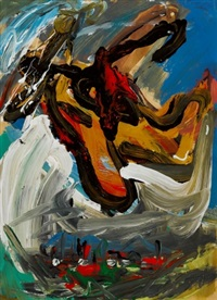 untitled abstract by siegfried anzinger