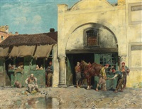 the blacksmith's shop by alberto pasini
