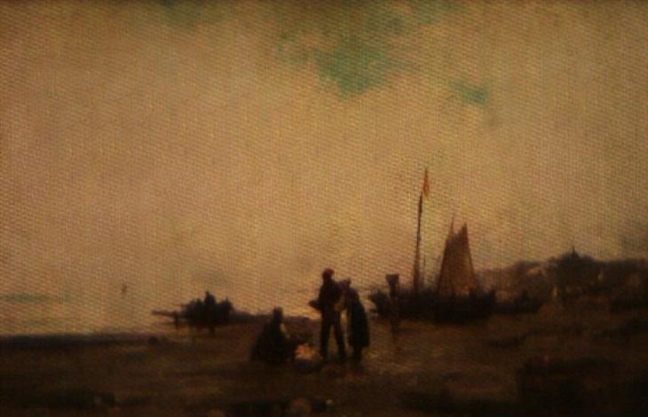 pêcheurs en bord de mer by paul bistaagne