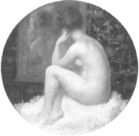 nude in front of a mirror by emmanuel fougerat