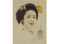 portrait of a geisha girl by norman rockwell