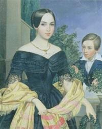 portrait de femme avec un jeune garçon by johann till the younger