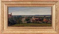 vue prise à marlotte, environs de fontainebleau by théodore rousseau