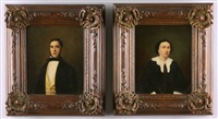 gentleman's portrait (+ another; pair) by leendert de koningh the younger