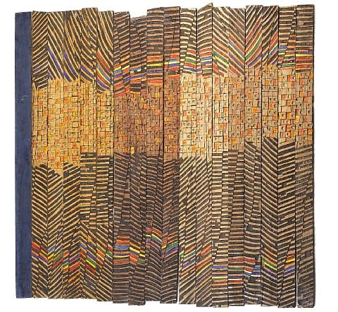 kente rhapsody in 18 parts by el anatsui