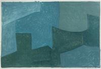 composition bleu et verte by serge poliakoff