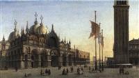 la place saint marc à venise, le palais des doges et le campanile by alexandre raulin