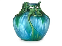leaf and tendril vase by edmond lachenal