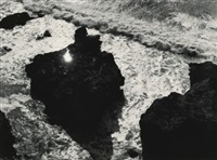 sun in rock, devil's slide, california (from song without words) by minor white