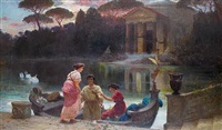 evening at the temple by ettore forti