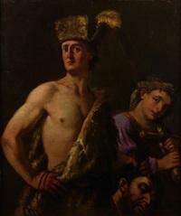 david avec la tête de goliath by domenico maggiotto
