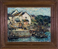 breton fishing village by walter griffin