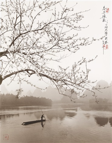 spring on the river li guilin china by don hong oai