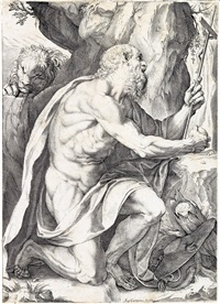 saint jerome by agostino carracci