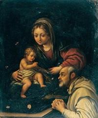 madonna col bambino e san romualdo by alessandro tiarini