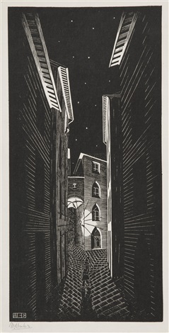 serenade in siena by m c escher