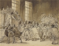 the coup of xviii brumaire: bonaparte before the council of five hundred by alexandre-évariste fragonard