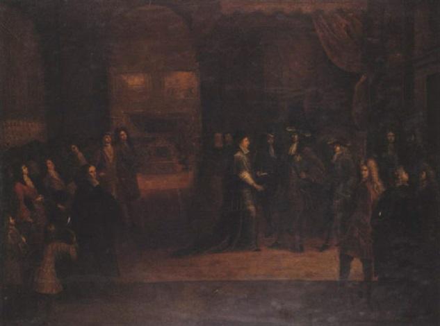 louis xiv assistant aux funérailles du grand dauphin louis de france à paris en 1711 by antoine dieu