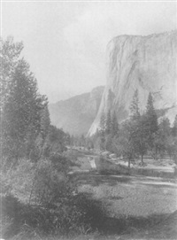 el capitan looking west, yosemite by john k. hillers