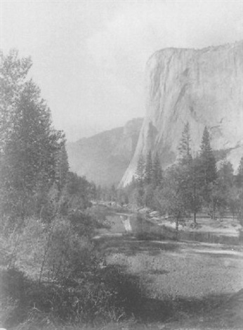 el capitan looking west yosemite by john k hillers