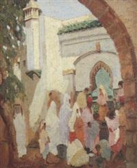 la fontaine à fès, maroc by marcel vicaire