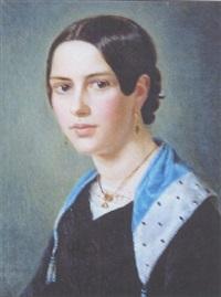 portrait d'une jeune fille by vasili andreevich tropinin